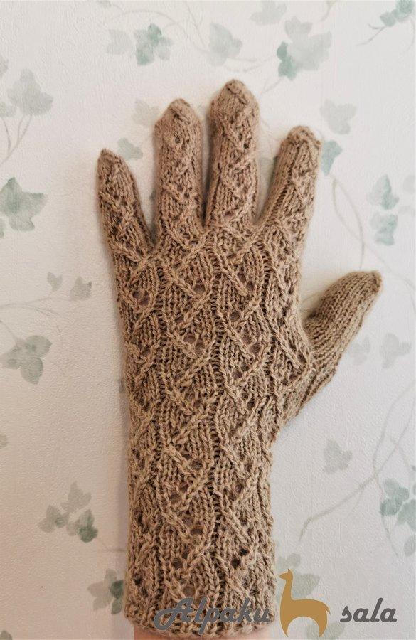 dāmu pirkstiņcimdi Odzīte, 100% alpakas dzija