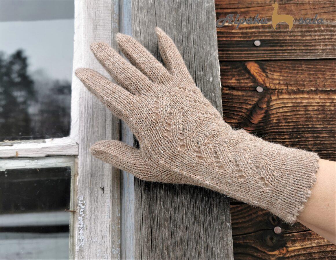 dāmu pirkstiņcimdi Klasika, 100% alpaca