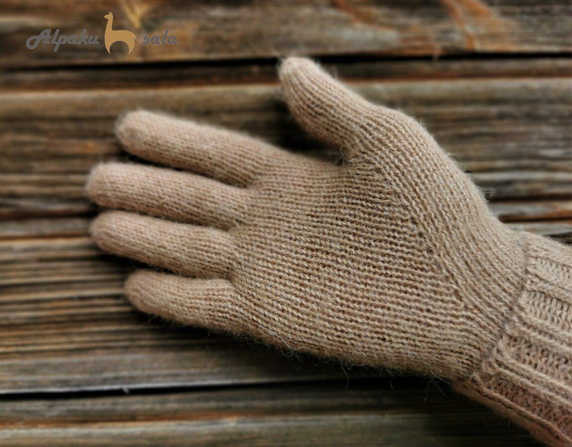 dāmu pirkstiņcimdi Bizes, 100% alpaca