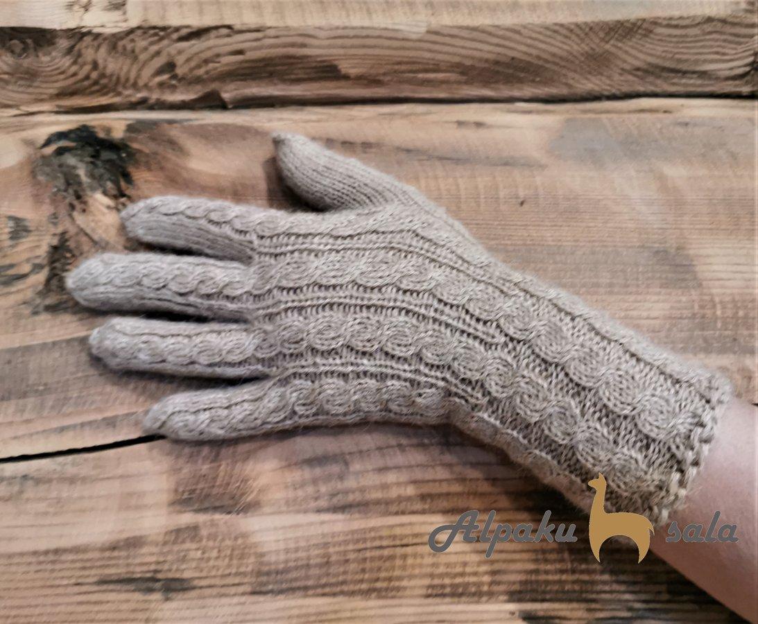 dāmu pirkstiņcimdi Pīnes, 100% alpaka