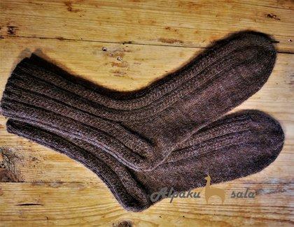 вязаные мужские носки Хозяин, 100% альпака
