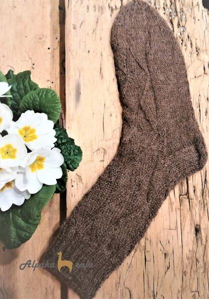 вязаные мужские носки, 100% альпака