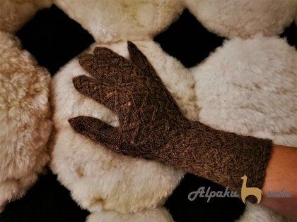 женские перчатки Змейка, 100% альпака